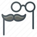 glasses, mask, mustache, party, props icon