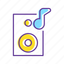 disco, event, loud, music, music system, party, subwoofer icon