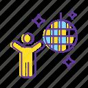 decoration, disco, disco ball, dj party, event, party