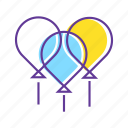 balloon, balloons, birthday, event, fun, parties, party icon