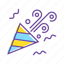 birthday, celebrate, confetti, event, party, party popper