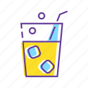 beverage, drink, event, glass, party, popping soda, soda icon