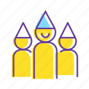 celebration, event, group, party, party hat, people icon