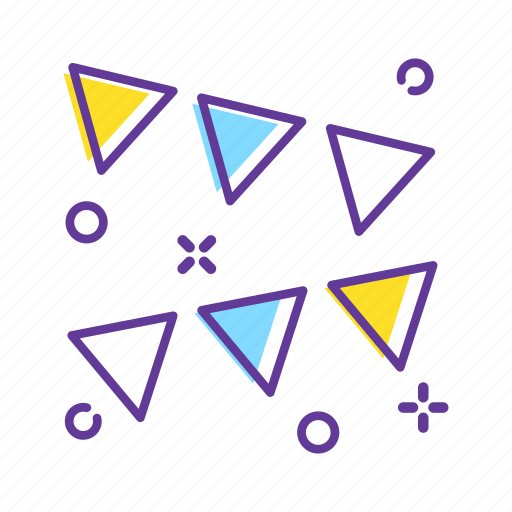 birthday, bunting, bunting flags, circus, decoration, event, party icon