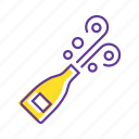 celebration, champagne, drink, event, party, popping champagne icon