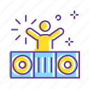 dance, decoration, disco, dj, dj party, event, party icon