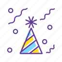 birthday, birthday celebration, event, hat, party, party hat icon
