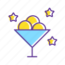 event, food, ice-cream, party, stars, sweet icon