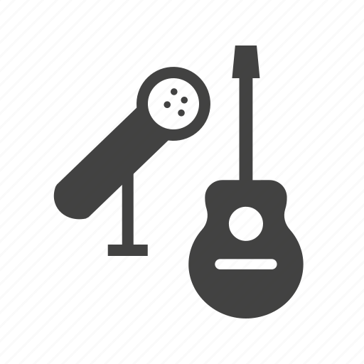 guitar, metal, mic, microphone, music, studio, wood icon