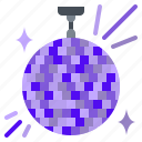 ball, disco, lighting, music, party icon