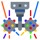 ball, double, led, lighting, party icon