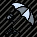 light, lighting, photo, reflector, umbrella, video icon