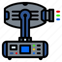beam, head, laser, light, lighting, moving, rgb icon