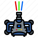 beam, head, laser, lighting, moving, party, rgb icon