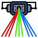 beam, laser, lighting, party, rgb, scanner icon