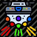 ball, color, light, lighting, multi, rotating icon