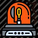 car, light, lighting, rotating, warning icon