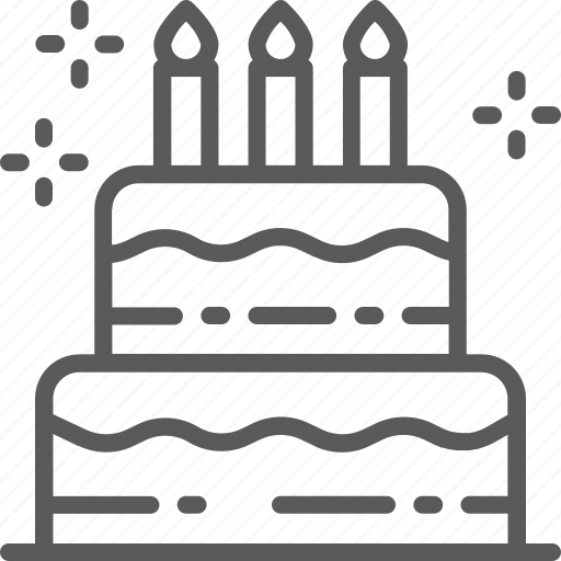 birthday, cake, candle, celebrate, holiday, party, torte icon