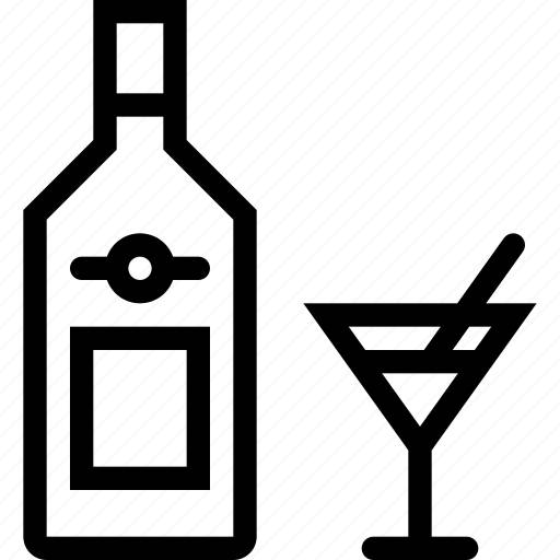 alcohol, bar, birthday, holiday, martini, party icon