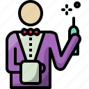 celebration, party, waiter icon