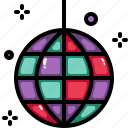 ball, disco, party icon