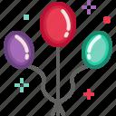 balloon, birthday, celebration, christmas, new year, party icon