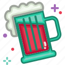 beer, birthday, celebration, christmas, new year, party icon