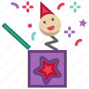 box, new year, party, surprise icon