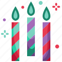 birthday, candles, celebration, christmas, new year, party icon