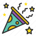 birthday, celebration, party, party popper icon