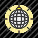birthday, disco ball, glitter ball, mirror ball, party icon