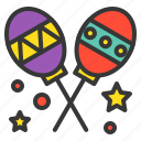 birthday, maracas, music, party, rumba shaker icon