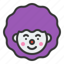 birthday, clown, jester, joker, party icon