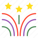 birthday, celebration, event, firework, party, star icon