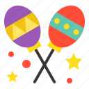 birthday, event, maracas, music, party, rumba shaker icon