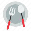 birthday, dish, event, folk, knife, party, restaurant icon