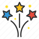 celebration, fireworks, party, rocket icon