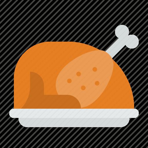 chicken, food, roast chicken, turkey icon