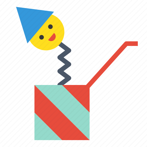 jack in the box, new, party, surprise, surprise box, toy, year icon