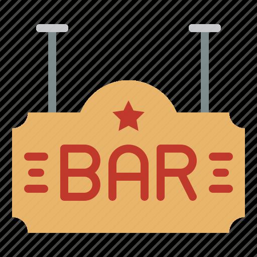 bar, club, nightlife, party, sign icon