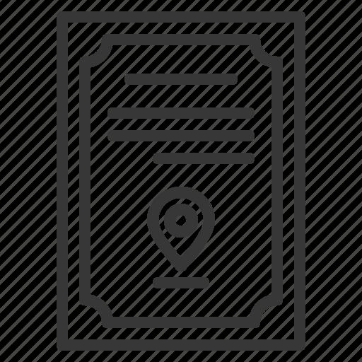card, invitation, location, menu icon