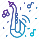 blowing, instrument, jazz, music, saxaphone icon