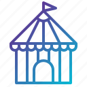 circus, house, party, tent icon