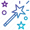magic, trick, wand icon