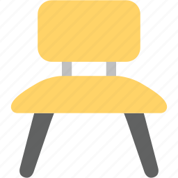chair, house, interior, stool icon