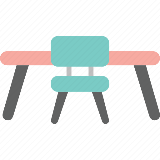 chair, desk, house, interior, office, study, work icon