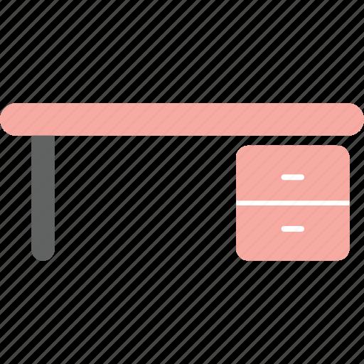 bureau, chest, desk, drawer, house, interior, work icon
