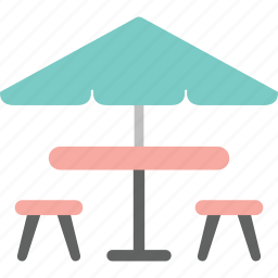 beach umbrella, house, interior, outdoor, parasol, rest, umbrella icon