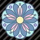 decoration, floral, flower, mandala, ornament icon