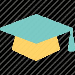 graduation, graduation cap, mortarboard, school, student icon